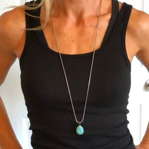 Chico's turquoise pendant necklace